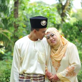 solemnization by Ahmad Jabar Jaffar - Wedding Bride & Groom ( love, malay wedding, married, d700, wedding, fx, happy, solemnization, lovely, couple, wedding photographer, nikon, bokeh )