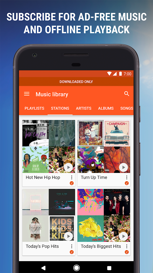 Google Play Musik – Screenshot
