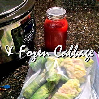 Freezer to Crock-Pot Stuffed Cabbage Rolls (REVISITED)