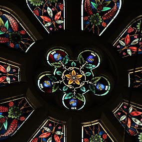 Rose Window, London, Ontario by Carl VanderWouden - Artistic Objects Other Objects