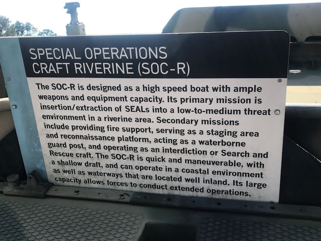 The SOC-R is designed as a high speed boat with ample weapons and equipment capacity. Its primary mission is insertion/extraction of SEALs into a low-to-medium threat environment in a riverine area. ...