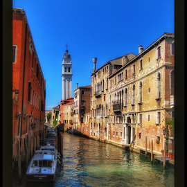 Canal by Mandy Hedley - Landscapes Travel ( water, buildings, venice, architecture, canal,  )