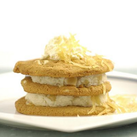 Ginger Ice Cream Cookie Stack