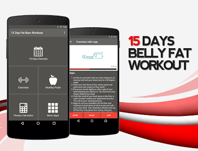 15 Days Belly Fat Workout App Fitness app screenshot 1 for Android