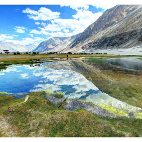 Hunder - Ladak, India by Dhritiman Lahiri - Landscapes Mountains & Hills ( leh, hunder, sandunes, kashmir, ladak,  )