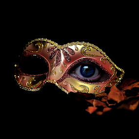 Behind the Mask by Ivana Miletic - Abstract Fine Art ( look, sight, mask, view, ivana miletic, eye )