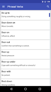 Phrasal Verbs Dictionary - screenshot