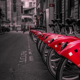 Lyon, France by Borislav Mrđa - City,  Street & Park  Street Scenes ( lyon )