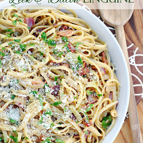 Leek and Bacon Linguine