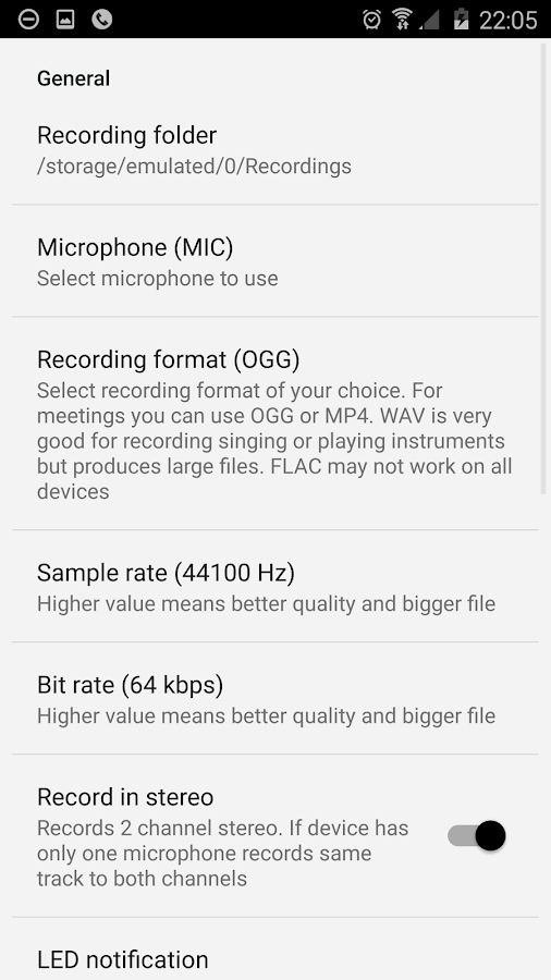 ASR Free MP3 voice recorder Screenshot 6