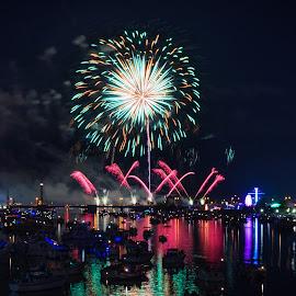 Bay City Fireworks Festival 2016 by Ryan Catanese - Public Holidays July 4th ( bay city, fireworks )