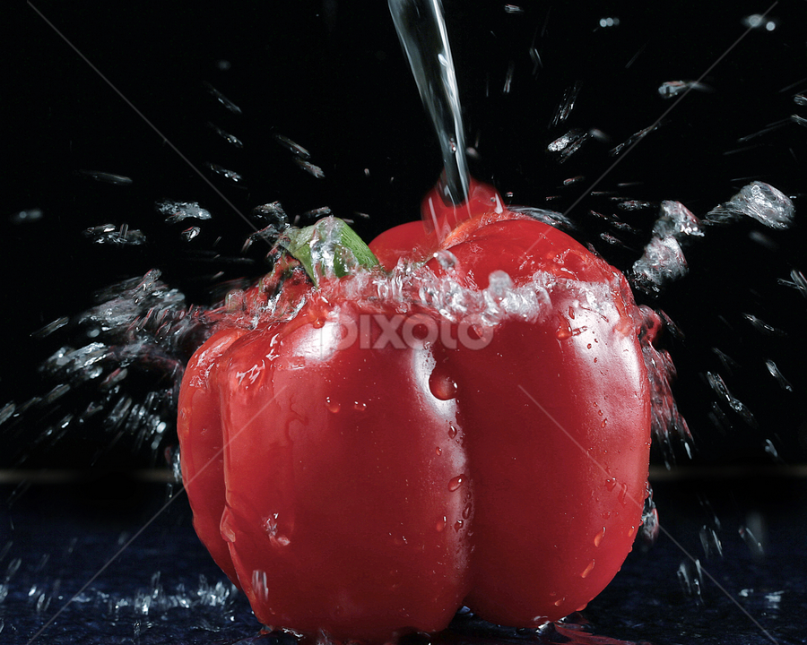 bubbles.... by Ismed  Hasibuan  - Food & Drink Fruits & Vegetables ( red, paprika, food, bubbles, vegetables )