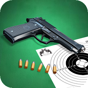 Pistol shooting at the target.  Weapon simulator. For PC (Windows & MAC)