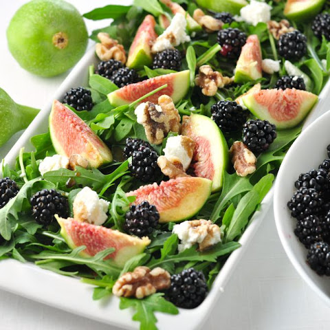 Fresh Fig Arugula Salad with Blackberries