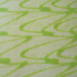 Cake icing by Kaye Petersen - Abstract Patterns ( cake, pattern, green, white, zig-zag, icing, swirls,  )