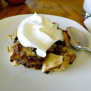 Apple Chocolate Chip Raisin Bread Pudding