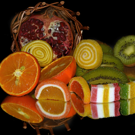 fruits with candys by LADOCKi Elvira - Food & Drink Fruits & Vegetables
