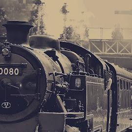 Non  smoker  me? by Gordon Simpson - Transportation Trains