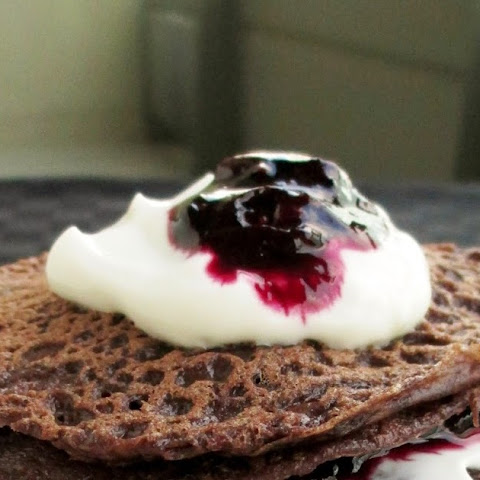 Miniature Chocolate-Cherry Crepe Cake