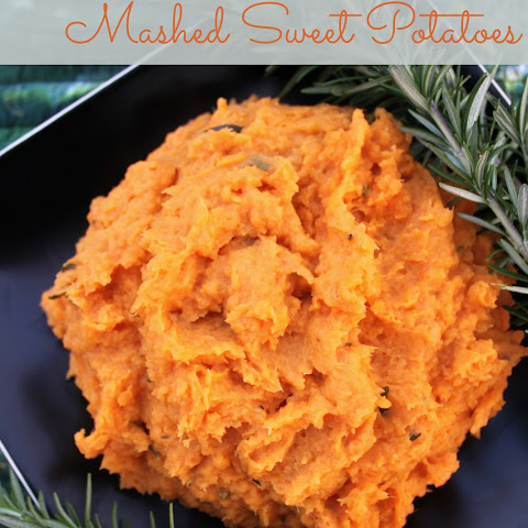 Rosemary Mashed Sweet Potatoes