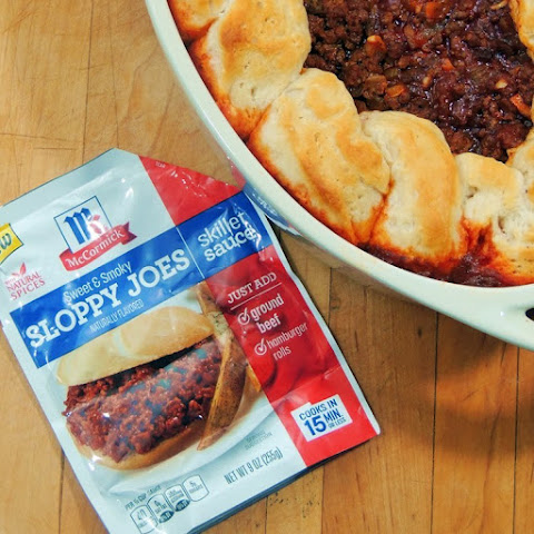 Sloppy Joe and Biscuit Casserole