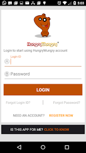 HungryWungry Business App - screenshot