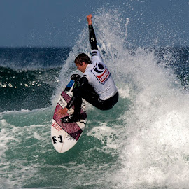 surfer by John Richards - Sports & Fitness Surfing ( wave, surf, cornwall )
