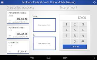 Screenshot of RFCU Mobile Banking