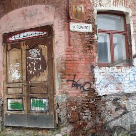 Corner Door by John Golden - Buildings & Architecture Decaying & Abandoned ( doors, russia, buildings, travel )