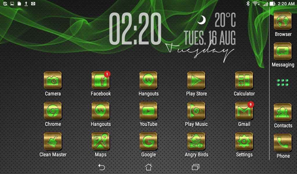 Gold Green Icon Pack Screenshot 4