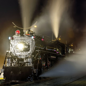 Old Number 261 ready to roll by Peter Stratmoen - Transportation Trains ( steam engine, tired iron, minnesota, vintage, railroad, trains,  )