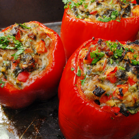 Stuffed Peppers with Ricotta and Italian Sausage