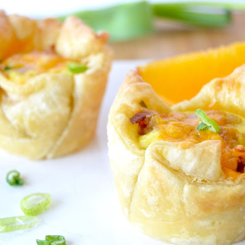 Loaded Puff Pastry Breakfast Cups