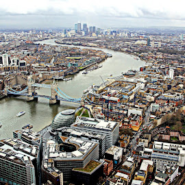 London by James Hunt - City,  Street & Park  Skylines ( shard, london, river thames )