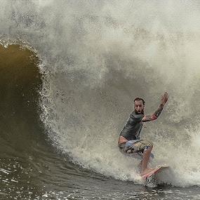Irma Surfing by Prentiss Findlay - Sports & Fitness Surfing ( surfing, surfer, ocean, beach, big waves )