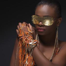 by Monika Schaible - People Fashion ( bling, orange, shades, fashion, monika schaible, gold, beauty, portrait )