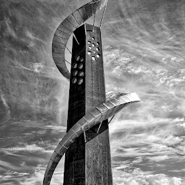 The twist around manhood by Lony Meyer - Buildings & Architecture Statues & Monuments ( norwegian harbor, monument in norway, monument at the aquarium in belestrand, belestrand, norway )