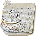 Silver Swan Keyboard Theme Icon