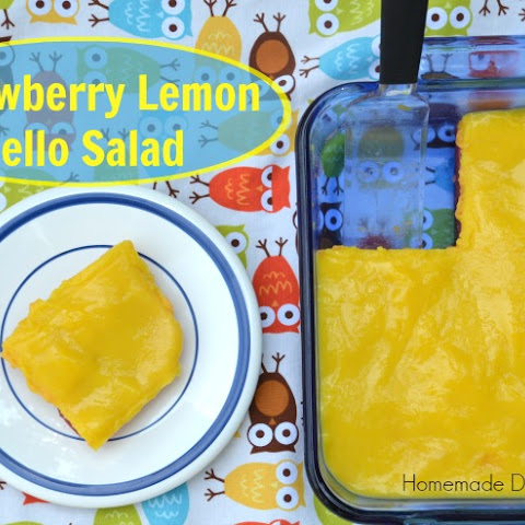 Strawberry Lemon Jello Salad