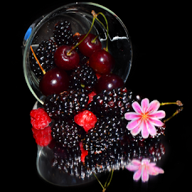 fruits  with flower by LADOCKi Elvira - Food & Drink Fruits & Vegetables ( fruits )