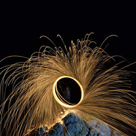 by Cheryl Larsen - Abstract Fire & Fireworks