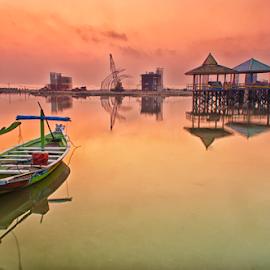 beach kenjeran lama  by Ahmad Sahroni - Transportation Boats