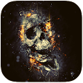 The Flaming Skull Best theme for Lollipop - Android 5.0