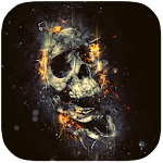 The Flaming Skull Best theme APK Image