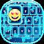 Free Download Neon Blue Emoji Keyboard APK for Blackberry