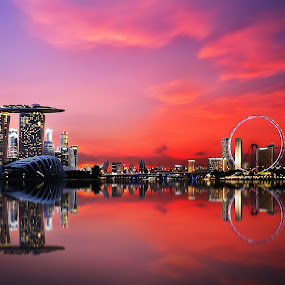 Skies on Fire by Jerome Tan - Buildings & Architecture Other Exteriors