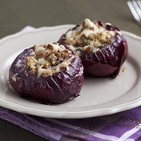 Sausage-Stuffed Red Onions