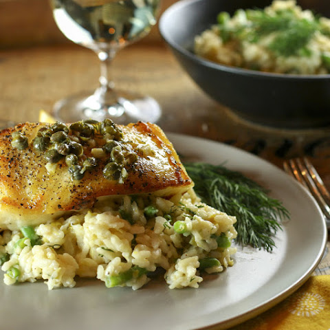 Chilean Sea Bass With Lemon, Dill & Caper Sauce