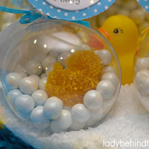 Rub a Dub Dub Baby Shower Centerpiece PLUS Party Favor and a Virtual Baby Shower