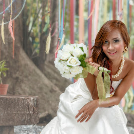 Mhay the Bride by Leo J Masa - Wedding Bride ( canon, fashion, colors, art, beautiful, white, ambient, tamron, photography, photooftheday, love, pinay, wedding, happy, outdoor, asia, photoshoot, gown, filipina, bride, philippines )